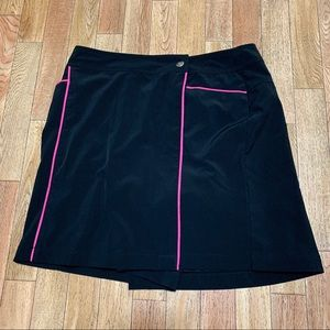 Pink Black Wrap Skirt